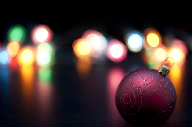 рождество, шары, огни загрузить